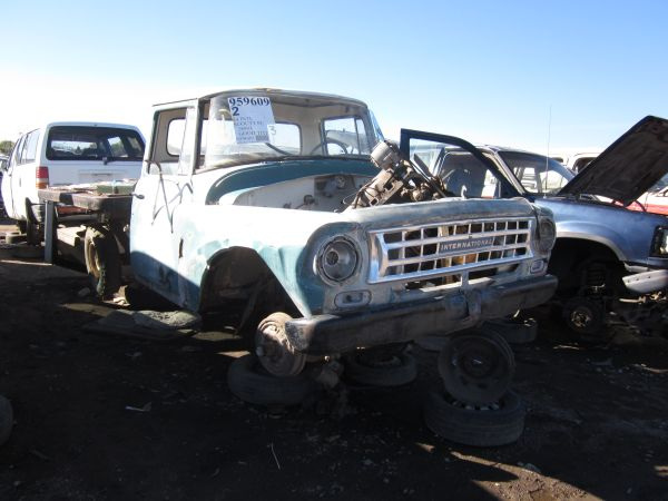 1964 International Harvester Pickup down on the junkyard