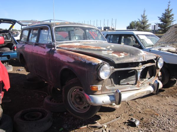 Volvo 122 Wagon down on the Denver junkyard
