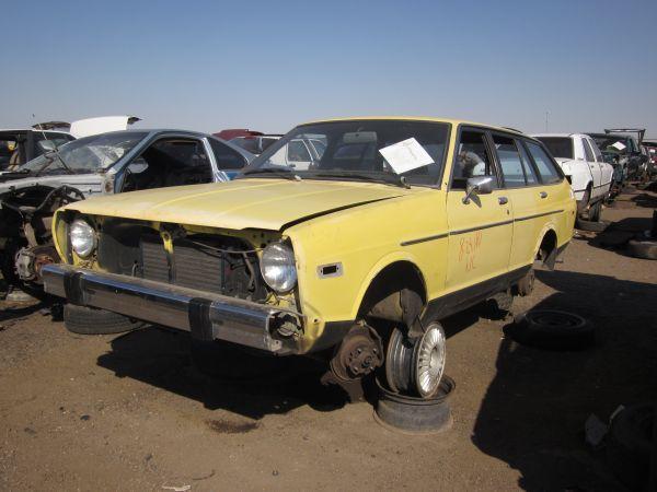 1979 Datsun 210 Wagon down on the junkyard